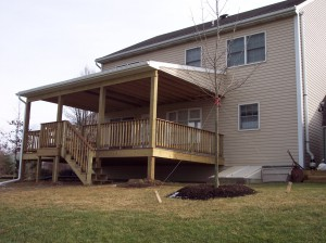 compositedecklancasterpa 300x224 Your Decking Material Options: Pros and Cons