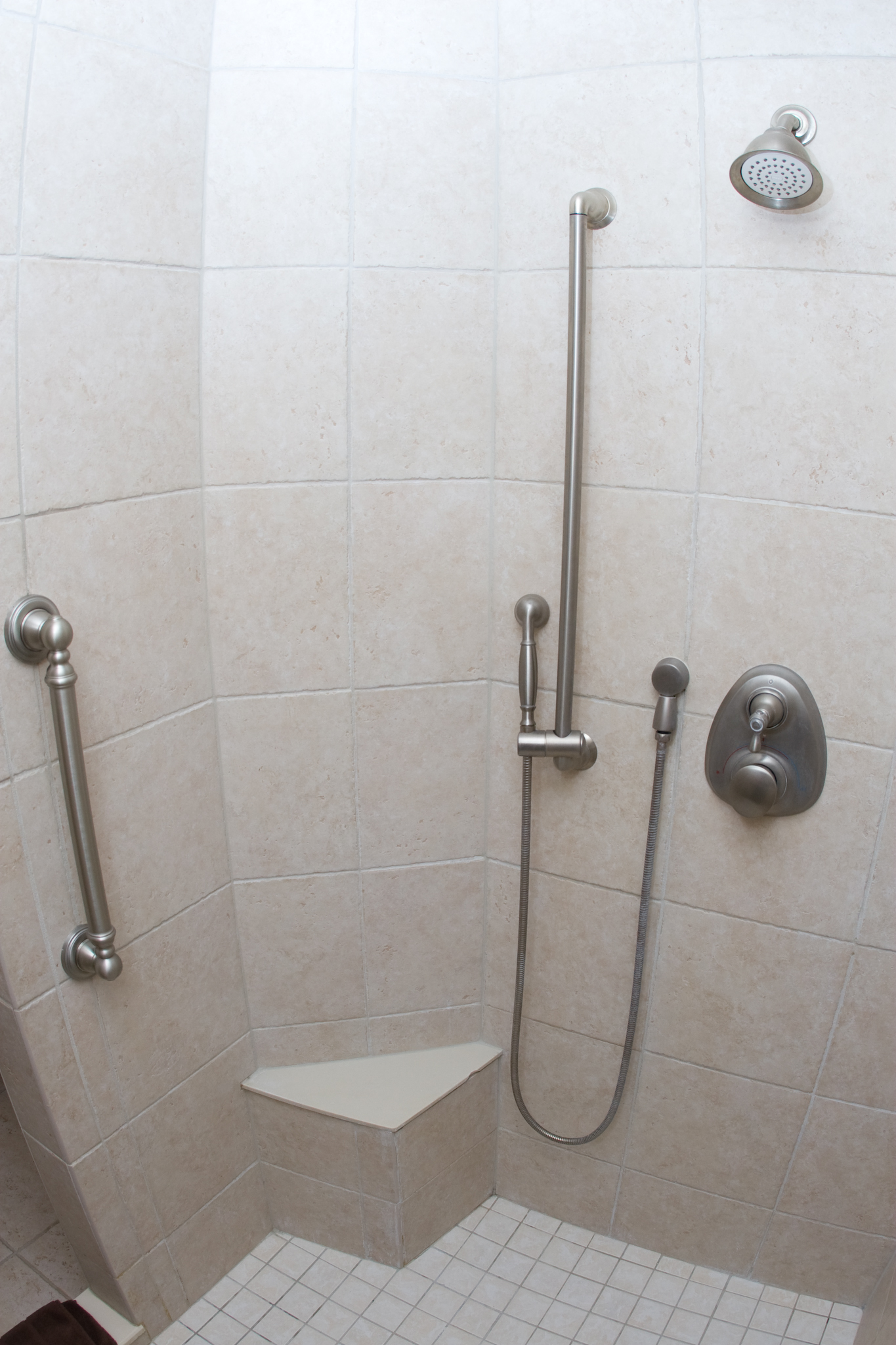 Shower seat built in with grab bars. - Lancaster PA Remodeling Tips & TricksLancaster PA ...